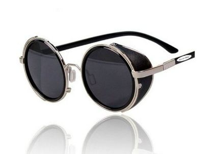 Arctic Star 80 s Style Vintage Style Inspired Classic Round Sunglasses Very Popular Silver frame