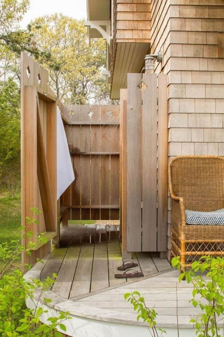 Top 25 best outdoor shower enclosure ideas on pinterest - Shower enclosure ideas ...