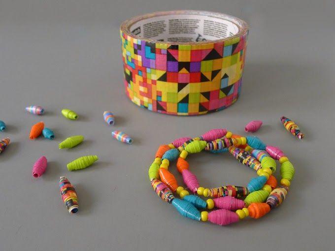 Thanks, I Made It : DIY Duct Tape Bead Bracelet