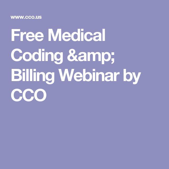 Free Medical Coding & Billing Webinar by CCO