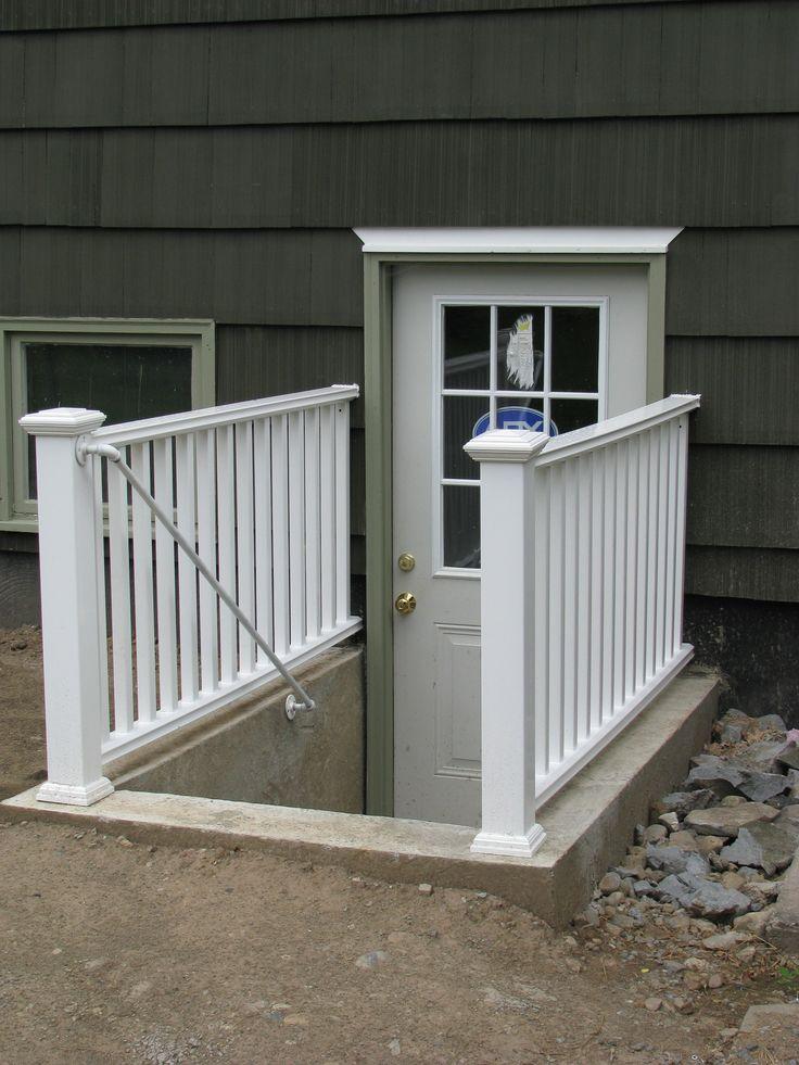 Added rear entry to the basement allcraft home improvement inc pinterest entrance for Exterior basement access doors