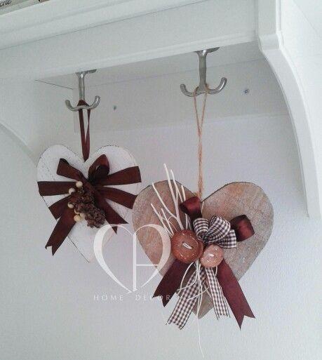 Cuori decorativi in legno sibiancato/naturaleDimensione : 12…