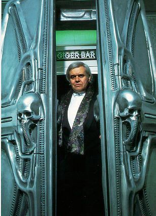 H.R. Giger- The front doors to the entrance to his bar.