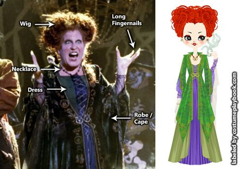Sisters: dress up as the Sandersons from Hocus Pocus! Full costume guide: costum…