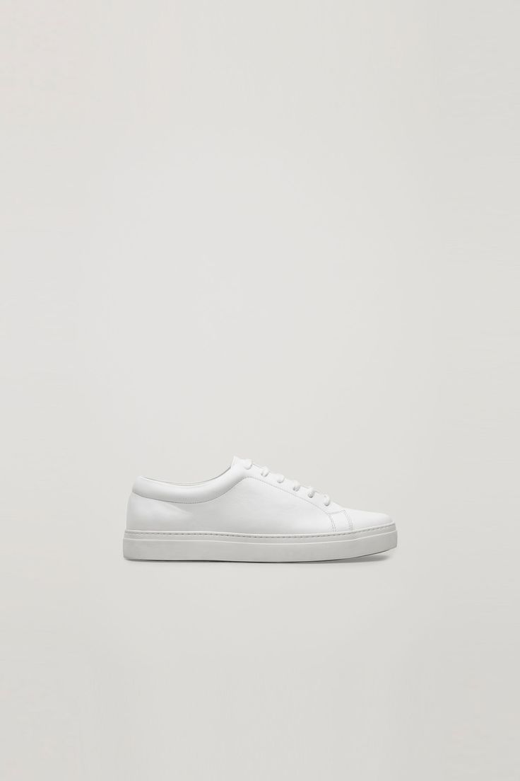 COS   Lace up leather sneakers