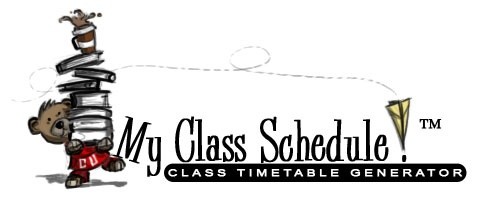 My Class Schedule! : Class Timetable Generator