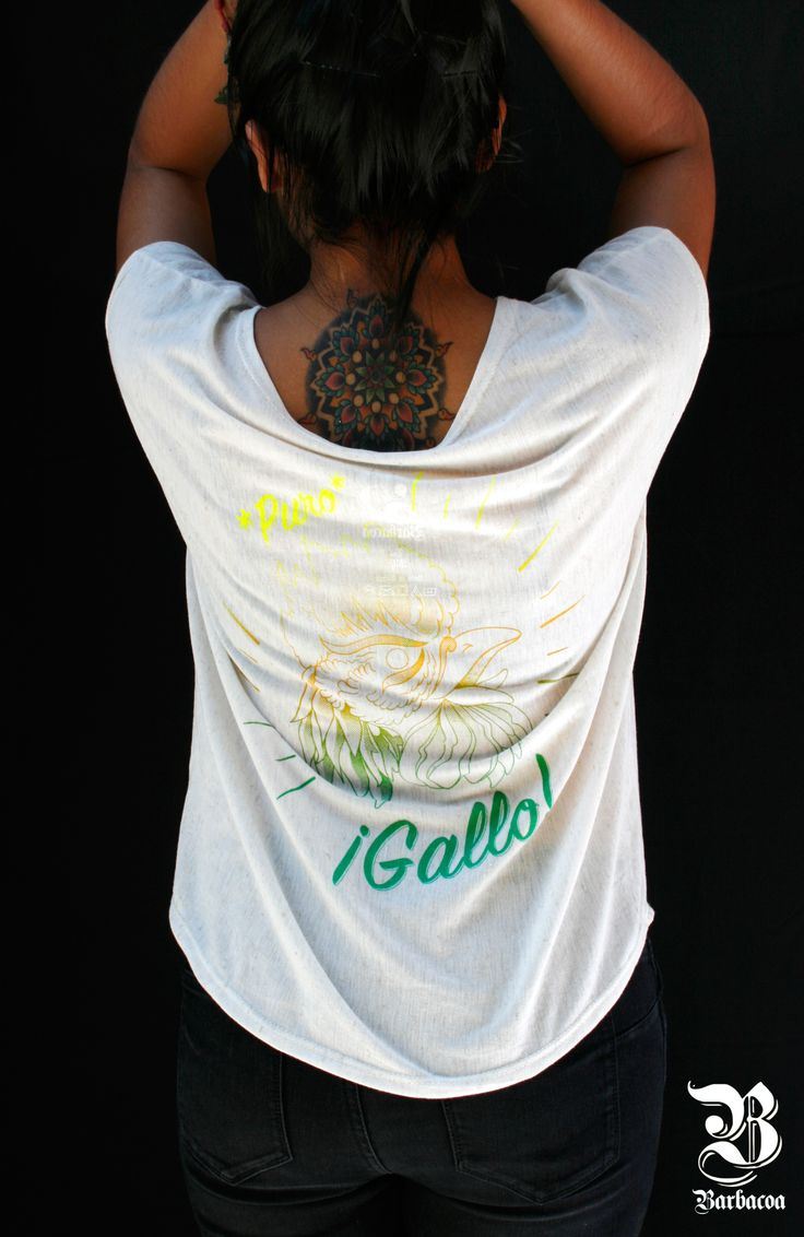 Playera Puro Gallo, Barbacoa Mx. #streetwear #style #tee #cannabis #purojale #purogallo #weed #420 #woman #outfit #fashion #hechoenmexico #puracalle