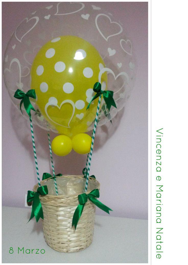 Mongolfiera di palloncini in lattice per la festa delle donne
