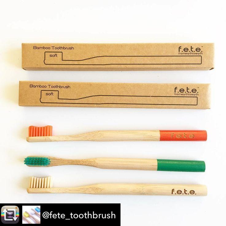 @fete_toothbrush bamboo toothbrushes 💚♻️  Together we CAN make a difference! 🌏💙  #bamboo #togetherwecan #savetheplanet #saynotoplastic #sustainable #vegan #smilemore #bambootoothbrush #teeth #biodegradable #zerowaste