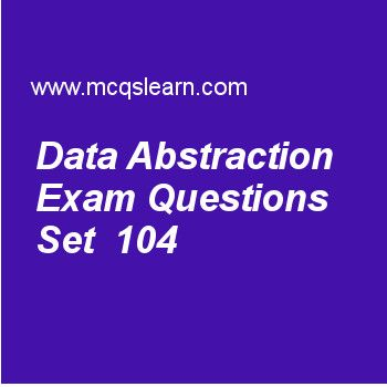 Learn quiz on data abstraction, DBMS quiz 104 to practice. Free database management system MCQs questions and answers to learn data abstraction MCQs with answers. Practice MCQs to test knowledge on data abstraction, hashing techniques, embedded and dynamic sql, sql data definition and types worksheets. Free data abstraction worksheet has multiple choice quiz questions as process of abstraction in which objects and classes are identified with some kind of identifier is classified as…