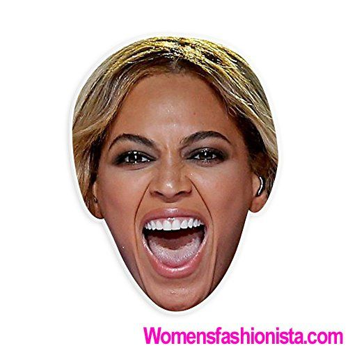 Excited Beyonce Mask - Perfect for Halloween, Masquerade, Parties, Events, Festivals, Concerts - Jumbo Size Waterproof