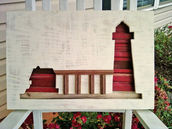 """""""Grand Haven Pier"""" (Michigan) --Kevin Stinehart  Made from rescued wood and Lake Michigan driftwood.: Michigan Driftwood, Rescue Wood, Lakes Michigan, Artworks Crafts, Wood Pieces, Genuine Lakes, Drift Wood, Originals Artworks, Art Pieces"""