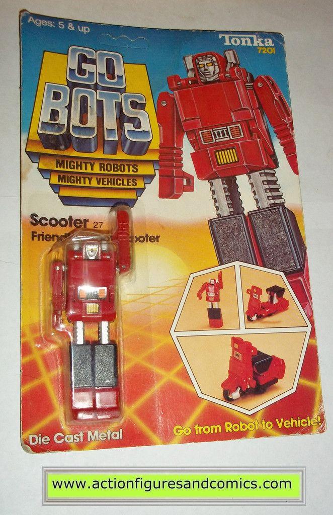 gobots SCOOTER mr-27 1984 tonka ban dai toys action figures moc mip mib vintage transformers