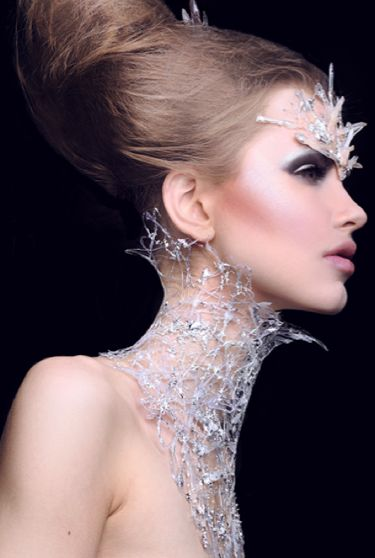 Make-up artist Sheri Vegas created this snow queen using Kryolan products. The look, which was inspired by Narnia, was created for our KryolanCOVERLOOK competition. For details on how to enter visit www.facebook.com/KryolanProfessionalMakeUp  Photography by Rachel Aust