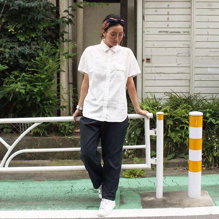さらっと清涼感のあるリネンポリエステル生地を使用したH/Sシャツ。  レディースサイズはゆったりとしたオーバーシルエットです。  NT3609N Linen…