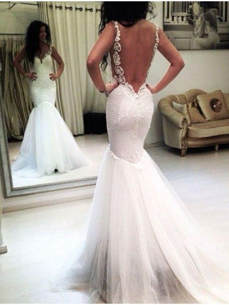 Hochzeitskleid meerjungfrau spitze vintage