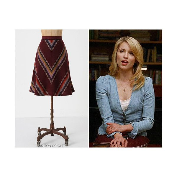 Fashion of Glee found on Polyvore featuring polyvore, quinn fabray and skirts