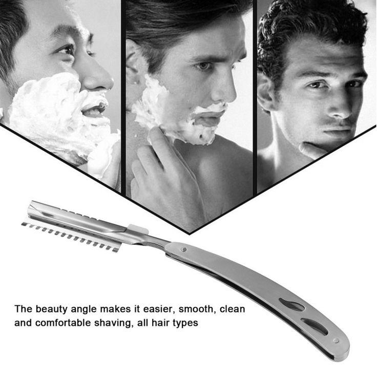 Ultrathin Folding Barber Razor Hair Removal Tool Vintage Straight Stainless Steel Hair Shaper Folding Shaving Knife Hot Sale #Affiliate