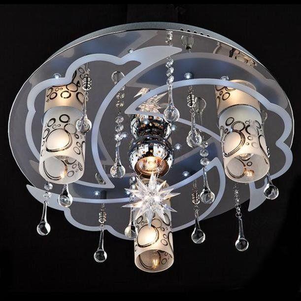 Потолочная люстра с пультом ДУ Eurosvet 70201/4 хром/белый