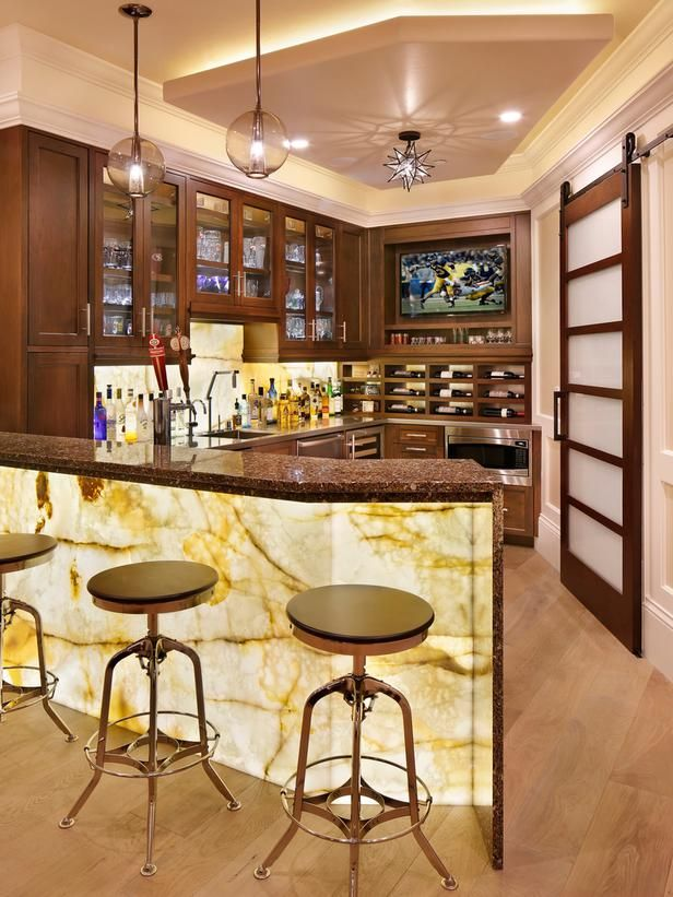 Cheers to Compromise - Happy Hour at Home: 13 Amazing Basement Bars on HGTV