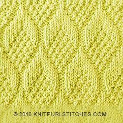 Knitting Adding Stitches Mid Row : Nice stitch pattern. The Pine Cone stitch is knitted with simple knit and pur...