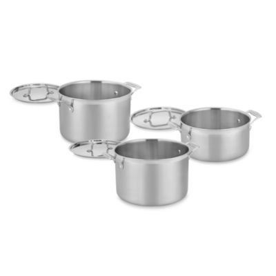 I need this pot for making soup Cuisinart® MultiClad Pro Triple-Ply Stainless Stockpot with Lid - 8qt