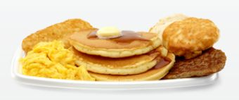 McDonalds Big Breakfast with biscuit hotcakes margarine and syrup 1,370 calores