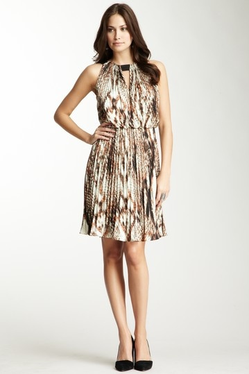 Vince Camuto  Pleated Halter Dress