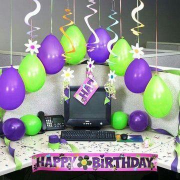 decoracion de oficina para cumpleaños de hombre