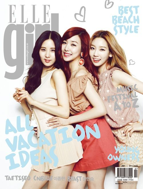 Taetiseo's interview and photo shoot with 'Elle Girl'!