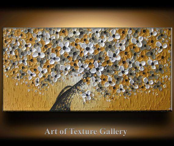 48 x 24 Large Oil Impasto Painting Original door artoftexture