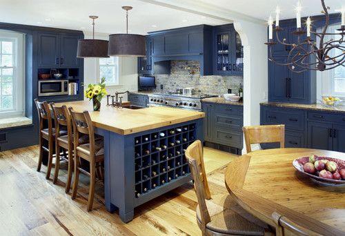 Une cuisine bleue... oseriez-vous? // Blue kitchen