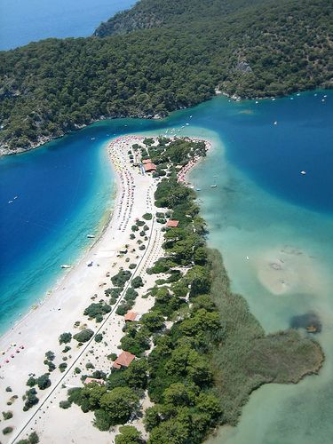Been here, many times. The Blue Lagoon in Oludeniz Turkey - http://www.traveltofethiye.co.uk/explore/attractions/oludeniz-blue-lagoon/