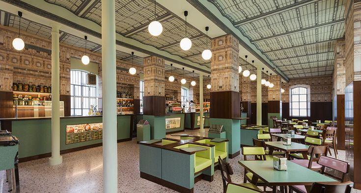 BarLuce: a West Anderson designed lounge in Italy. Photo by Attilio Maranzano. Courtesy Fondazione Prada