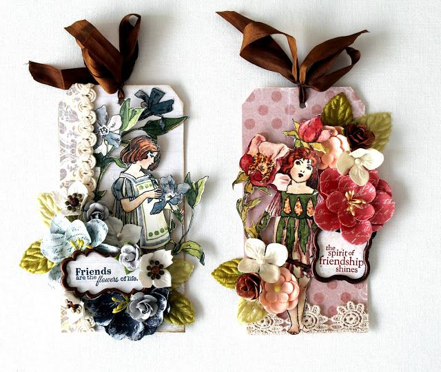 Tags by Cari Fennell for Prima using Fairy Rhymes collection. #primamarketing #fairyrhymes