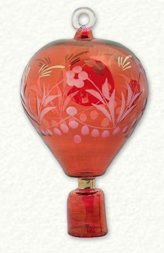 Red Hot Air Balloon Egyptian Glass Christmas Ornament Dec ...