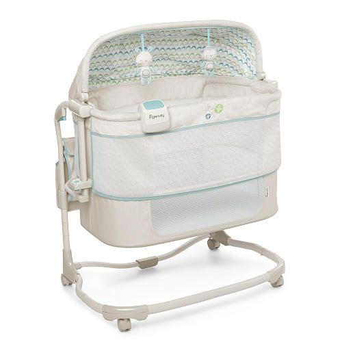 The Dream & Grow Bedside Bassinet Deluxe™ is a must-have during baby's first year. The two stages of this sleeper Bassinet grow with baby making this sleeper very convenient and accessible to mom's bedside. In stage one the open Bassinet design allows newborns to be kept within close reach of mom with the open bassinet design. Perfect for tending to baby during late night feedings for nursing mothers. Stage two of the Bassinet allows mom to adjust the depth of the bassine...
