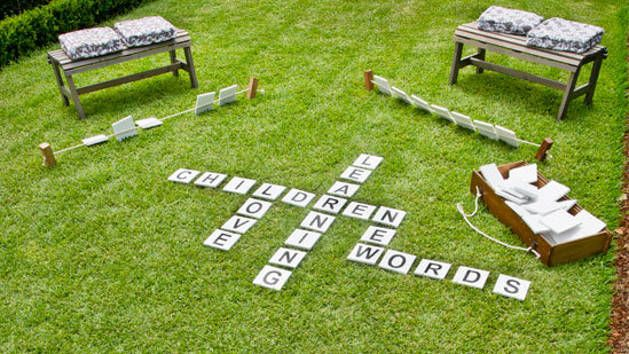 Are your kids spending too much time indoors? When you encourage them to go outside, do they complain that there's nothing to do? Not anymore! Get them into the backyard with supersized lawn letters for a game of words. They'll be out in the fresh air and they'll be learning, too.