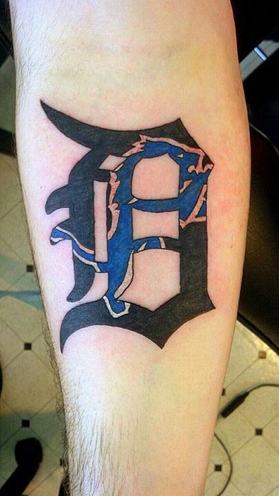 Detroit lions tattoo detroit d If I ever get a tattoo this may be it.