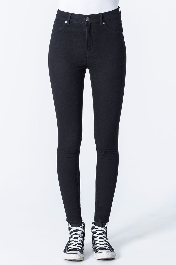 Cheap Monday Image 1 of High Spray Black Jeans in Black