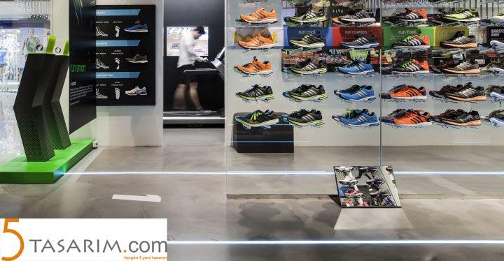mağaza orta ayakkabı aynaları
