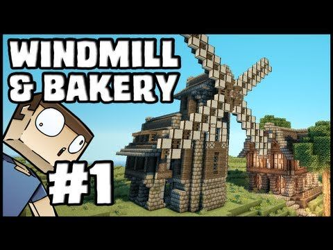 Minecraft Lets Build: Windmill & Bakery - Part 1 - YouTube