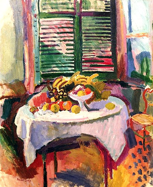 Still Life with Shuttered Windows  Raoul Dufy (1906)