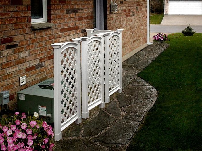 Luxembourg Vinyl Garden Trellis A Beautiful Addition To Your Garden.  Quality Craftsmanship And Sturdy Design, A Long Lasting Trellis.