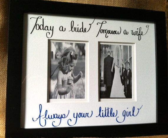 Perfect Wedding Gift For Your Daughter : ... Gift, Dad Frame, Bride, Gifts For Mom, Future Wedding, Wedding Gifts