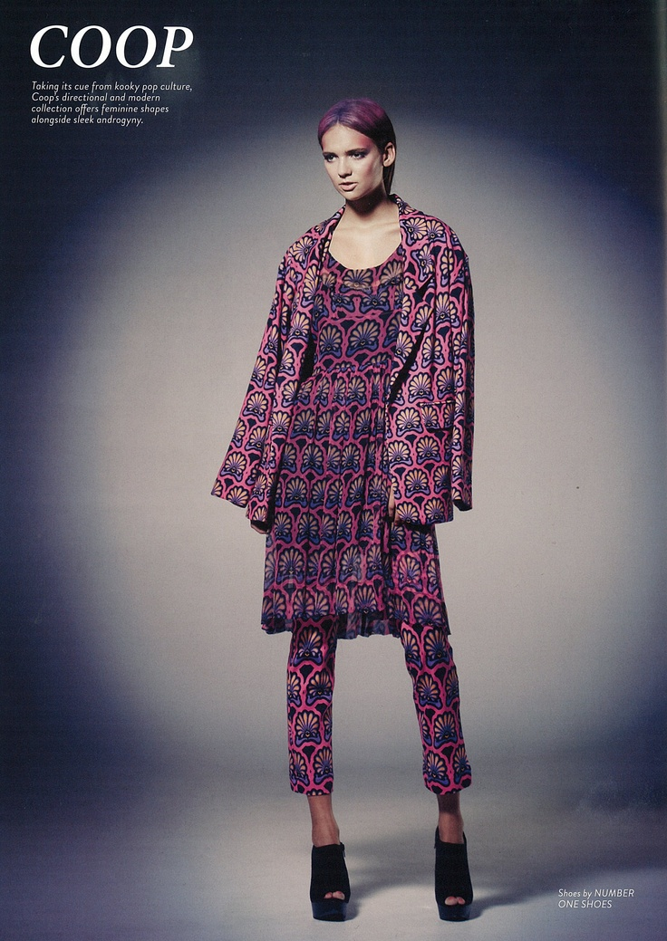Remix Magazine - COOP Rosa jacket  Sunday Best dress and Seven Eights pant