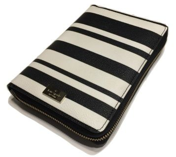 Kate Spade Arbour Hill Printed Zip Around Personal Organizer Planner 2017 WLRU2735 Bonbon Stripes