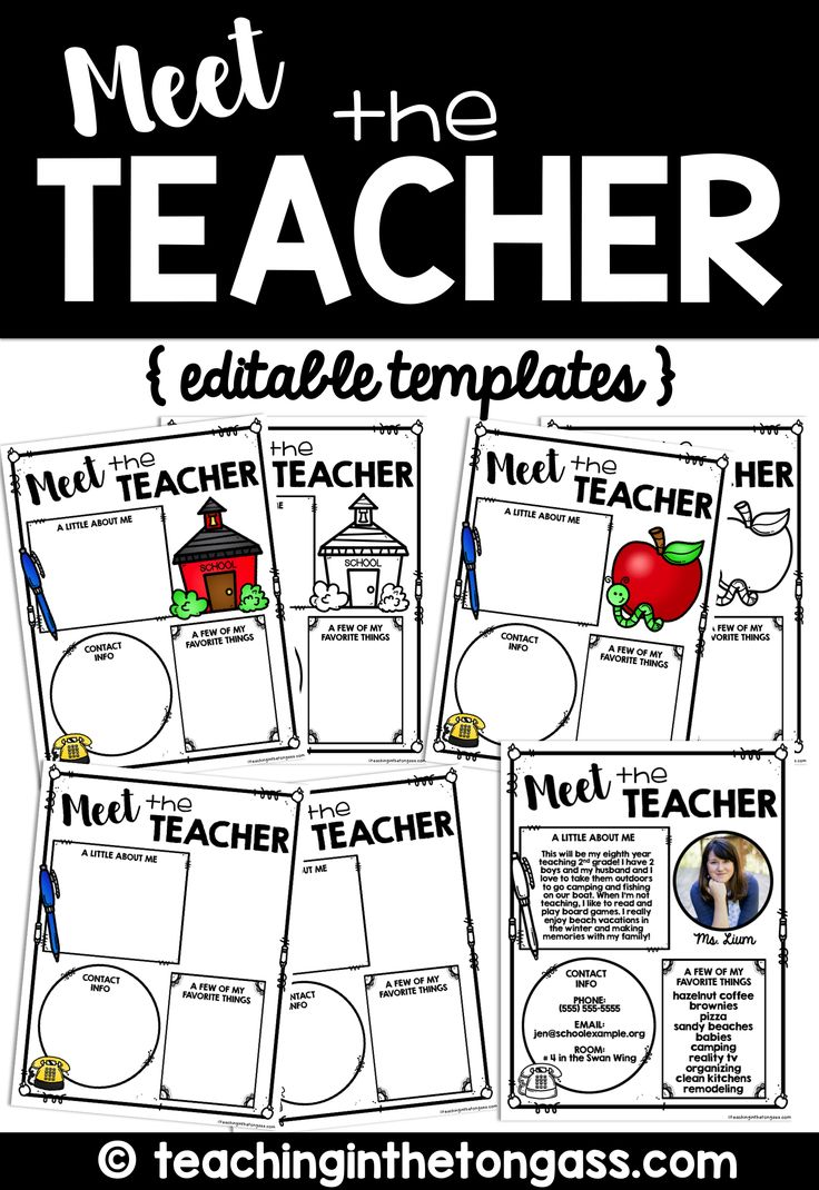 Meet the Teacher EDITABLE letter templates