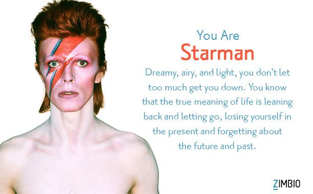 I'm Starman. Which David Bowie song are you? - Quiz