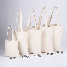 High Quality Plain Fabric Cotton Shopping Bags